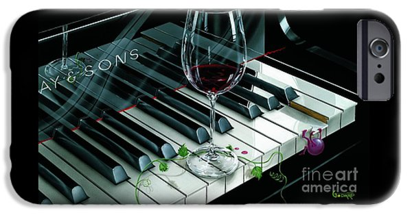 Red Wine iPhone Cases - Key To Wine iPhone Case by Michael Godard