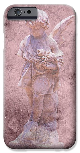 Cemetary iPhone Cases - Key West Angel #2 iPhone Case by Susan Vineyard