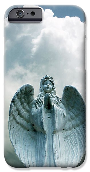 Cemetary iPhone Cases - Key West Angel #5 iPhone Case by Susan Vineyard