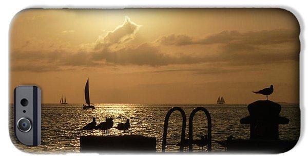 Sailboat iPhone Cases - Key West Sunset iPhone Case by Jason Freedman