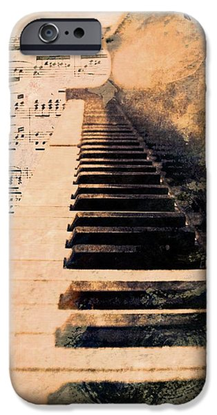 Piano iPhone Cases - Keys to greatness  iPhone Case by Aaron Berg