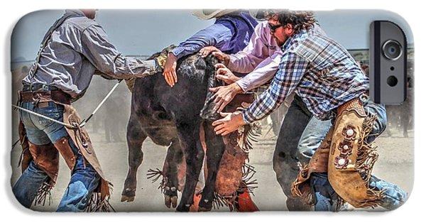 Chaps iPhone Cases - Keystone Kowboys iPhone Case by Vikki Correll