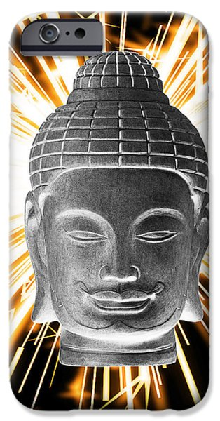 Buddhist Sculptures iPhone Cases - Khmer 3 Enlightenment iPhone Case by Terrell Kaucher