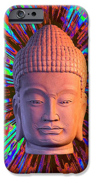 Buddhist Sculptures iPhone Cases - Khmer colorful1 CF iPhone Case by Terrell Kaucher