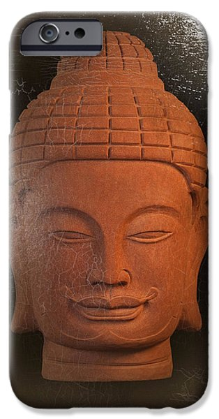 Buddhist Sculptures iPhone Cases - Khmer oil antique iPhone Case by Terrell Kaucher
