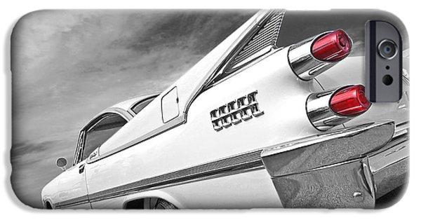 Lancer iPhone Cases - Kicking Up a Storm - 1959 Dodge Custom Royal Lancer iPhone Case by Gill Billington