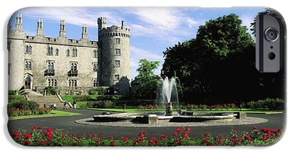 Garden Statuary iPhone Cases - Kilkenny Castle, Co Kilkenny, Ireland iPhone Case by The Irish Image Collection