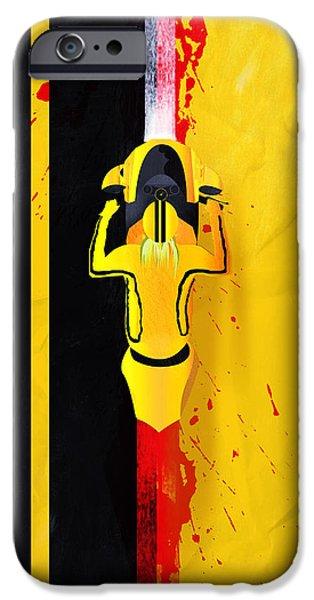 Kill Bill iPhone Cases - Kill Bill minimalistic alternative movie poster iPhone Case by Lautstarke Studio