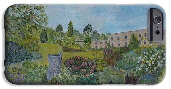 Garden Scene Paintings iPhone Cases - Killerton House and Gardens iPhone Case by Janet Davies