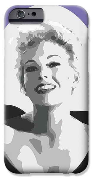 Kim Drawings iPhone Cases - Kim Novak iPhone Case by Joaquin Abella