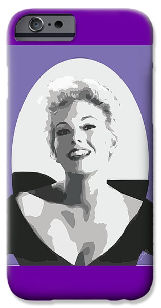 Kim Drawings iPhone Cases - Kim Novak iPhone Case by Quim Abella