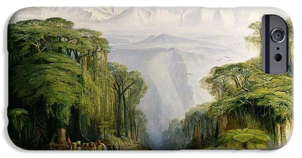 1879 iPhone Cases - Kinchinjunga from Darjeeling iPhone Case by Edward Lear