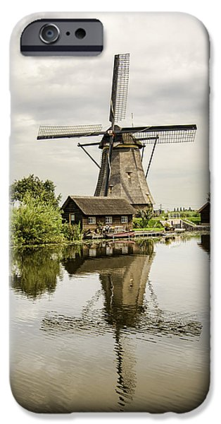 Historic Site iPhone Cases - Kinderdijk No. 4 iPhone Case by Phyllis Taylor