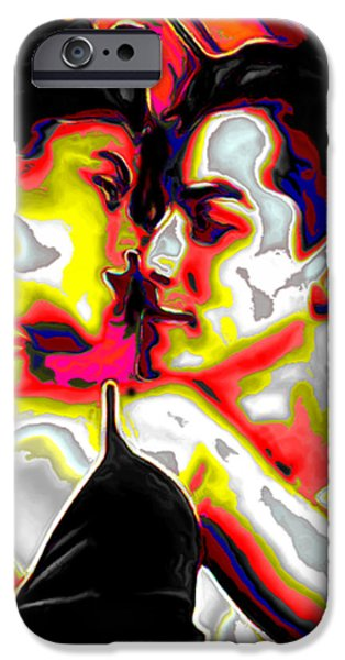 Queen Of Hearts iPhone Cases - King and Queen of Hearts iPhone Case by  Fli Art