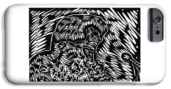 Abstract Digital Drawings iPhone Cases - King iPhone Case by AR Teeter