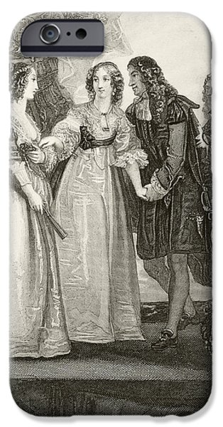 Duchess iPhone Cases - King Charles Ii Of England Meeting His iPhone Case by Ken Welsh