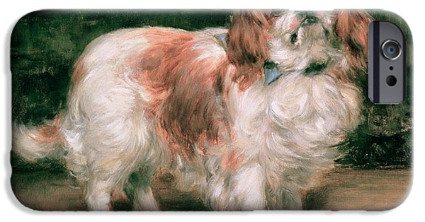 Small Dogs iPhone Cases - King Charles Spaniel iPhone Case by George Sheridan Knowles