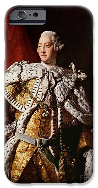 Mental Paintings iPhone Cases - King George III iPhone Case by Allan Ramsay