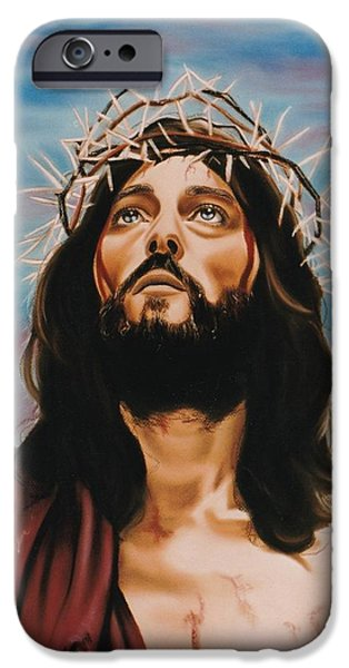 Son Of God Pastels iPhone Cases - King of Kings iPhone Case by Debbie Fischer
