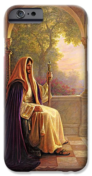 Heaven iPhone Cases - King of Kings iPhone Case by Greg Olsen