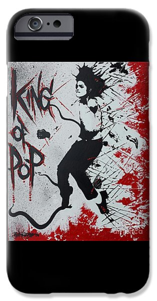 Smooth Criminal iPhone Cases - King of Pop iPhone Case by Renate Dubose