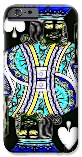 King of Spades - v2 iPhone Case by Wingsdomain Art and Photography