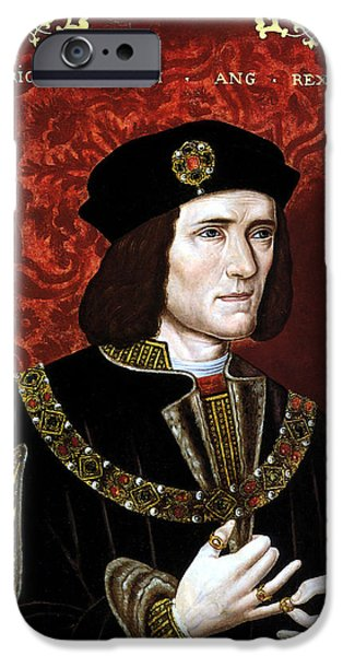 Richard iPhone Cases - King Richard III of England iPhone Case by War Is Hell Store