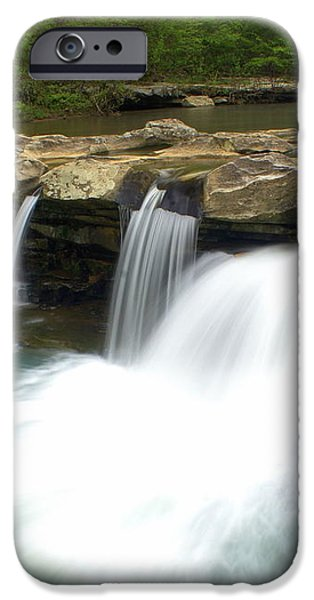 King River Falls iPhone Case by Marty Koch