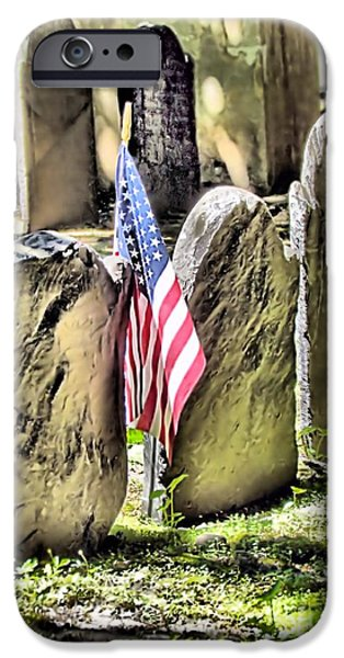 American Revolution iPhone Cases - Kings Chapel Cemetery  iPhone Case by Elizabeth Dow