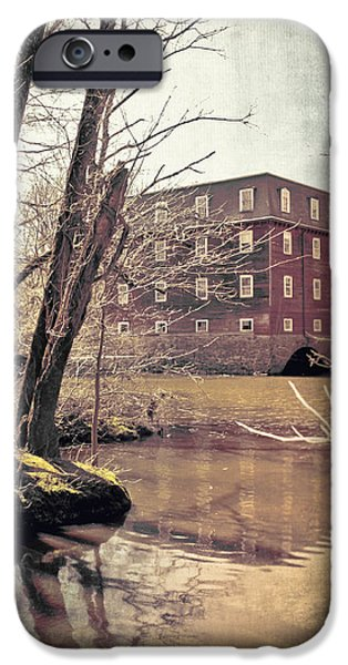 River View iPhone Cases - Kingston Mill Across the River iPhone Case by Colleen Kammerer
