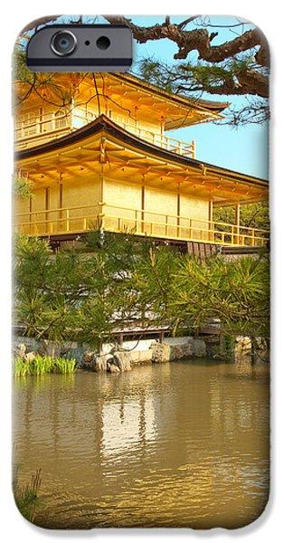 Japanese iPhone Cases - Kinkakuji Golden Pavilion Kyoto iPhone Case by Sebastian Musial