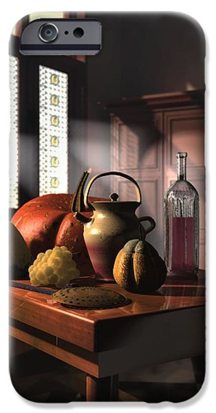 Food And Beverage Sculptures iPhone Cases - Kinzeliin Still Life 1 iPhone Case by Dave Luebbert