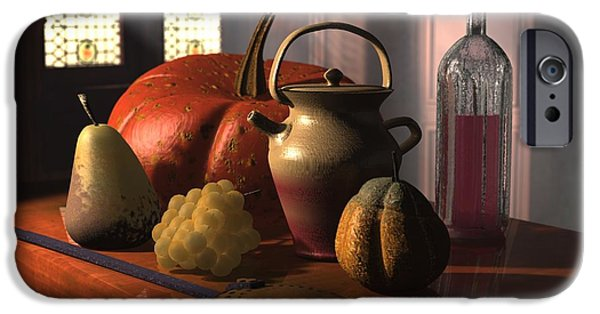 Food And Beverage Sculptures iPhone Cases - Kinzeliin Still Life 2 iPhone Case by Dave Luebbert