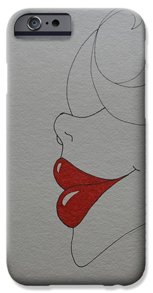 Thinking iPhone Cases - Kiss Me Darling iPhone Case by Sharon Bernacki