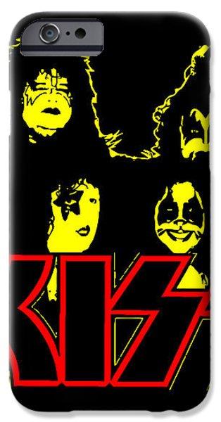 KISS No.01 iPhone Case by Caio Caldas