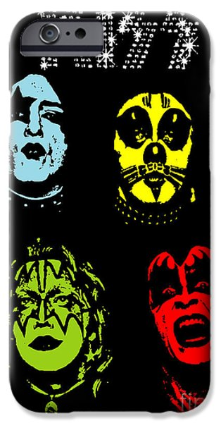 Photomanipulation iPhone Cases - KISS No.02 iPhone Case by Caio Caldas
