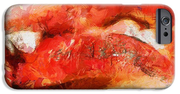 D.c. iPhone Cases - Kissing Lips - Departure - Painting iPhone Case by Sir Josef  Putsche