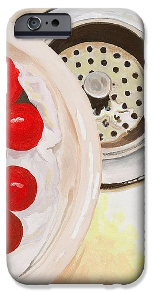 Stainless Steel Paintings iPhone Cases - Kitchen Sink iPhone Case by Lissa Banks