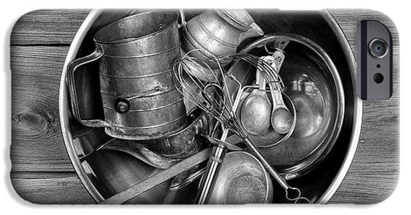 Stainless Steel Photographs iPhone Cases - Kitchen Utensils Still Life I iPhone Case by Tom Mc Nemar