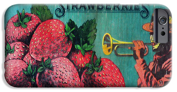 Patriots iPhone Cases - Kitchen - Vintage Strawberry Sign iPhone Case by Paul Ward