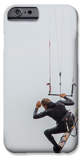 Kite Boarding iPhone Cases - Kite Boarding 2 iPhone Case by Susan  McMenamin