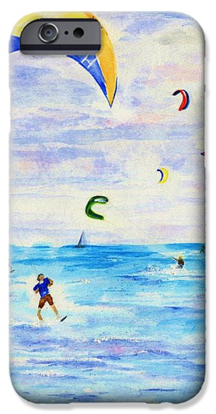 Kite Boarding iPhone Cases - Kite Surfer iPhone Case by Jamie Frier