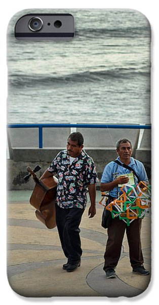 Beach Landscape iPhone Cases - Kite Vendor and Mariachi iPhone Case by Totto Ponce