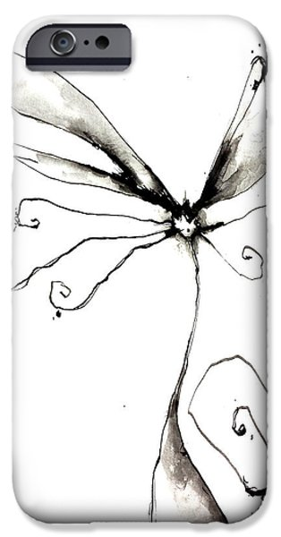 Abnormal Drawings iPhone Cases - Kitty iPhone Case by Nick Watts