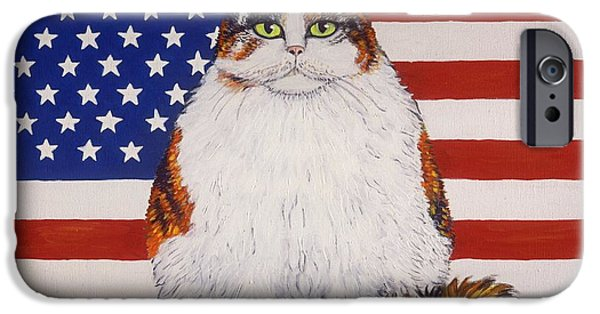 Independance Paintings iPhone Cases - Kitty Ross iPhone Case by Linda Mears