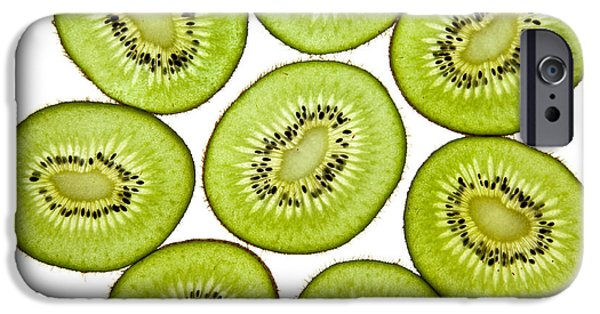 Freshness iPhone Cases - Kiwifruit iPhone Case by Nailia Schwarz