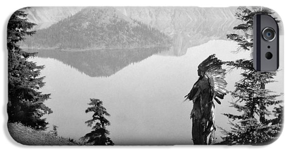 Craters iPhone Cases - KLAMATH CHIEF, c1923 iPhone Case by Granger