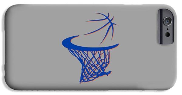Knicks iPhone Cases - Knicks Basketball Hoop iPhone Case by Joe Hamilton