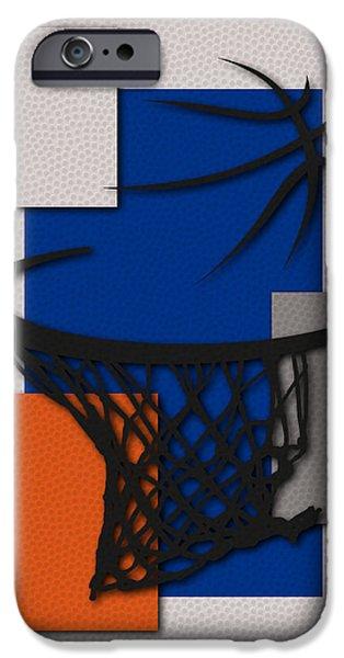 Knicks iPhone Cases - Knicks Hoop iPhone Case by Joe Hamilton