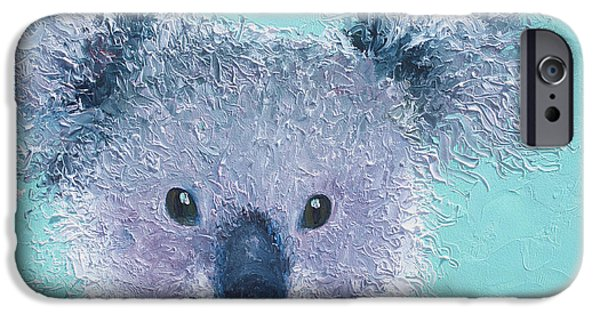 Art For Childrens Room iPhone Cases - Koala iPhone Case by Jan Matson